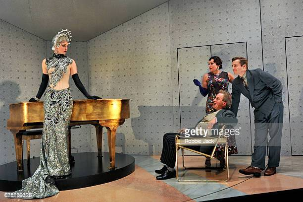 Amy Griffiths as Florabel Leigh Harry Enfield as Glogauer Lucy Cohu as Helen Hobart and Kevin Bishop as Jerry Hyland in Moss Hart and George S...