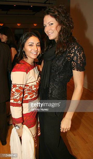 Amy Gruenhut and Caitlin Weiskopf during Elle Magazine Party September 20 2006 at 137 West 26th St in New York City New York United States