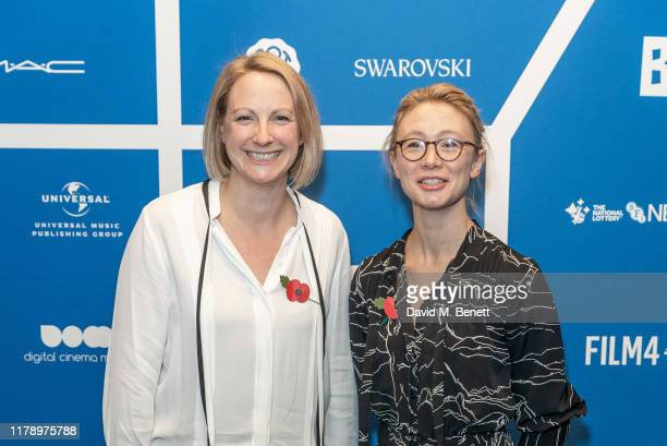 Amy Gustin and Deena Wallace attend the BIFA nominations announcement at Regent Street Cinema on October 30 2019 in London England