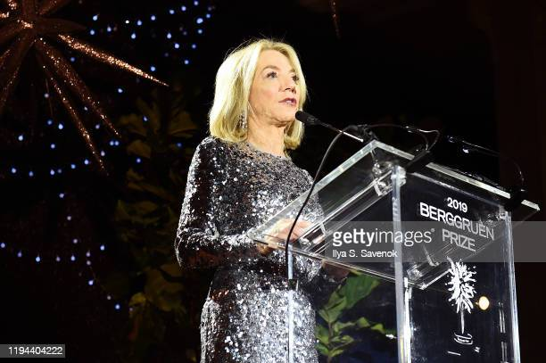 Amy Gutmann speaks onstage during the Fourth Annual Berggruen Prize Gala celebrating 2019 Laureate Supreme Court Justice Ruth Bader Ginsburg In New...