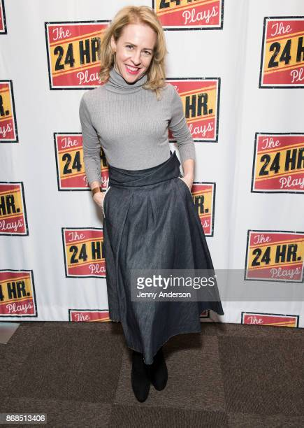 Amy Hargreaves attends 24 Hour Plays on Broadway at American Airlines Theatre on October 30 2017 in New York City