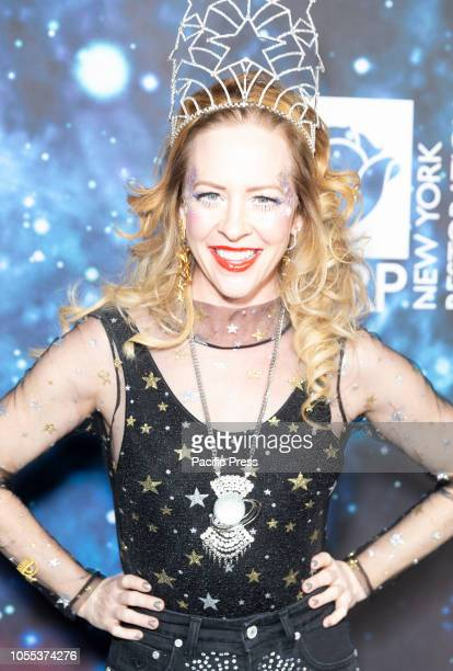 Amy Hargreaves attends Bette Midler 2018 Hulaween on theme of Cosmos Benefit for New York Restoration Project at Cathedral of St John the Divine