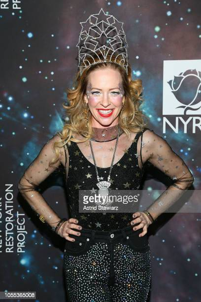 Amy Hargreaves attends Bette Midler's New York Restoration Project Hosts 22nd Annual Hulaween Event at Cathedral of St John the Divine on October 29...