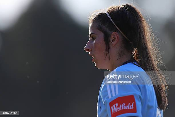 Amy Harrison of Sydney FC looks on during the round four WLeague match between Sydney and Melbourne at Lambert Park on October 6 2014 in Sydney...