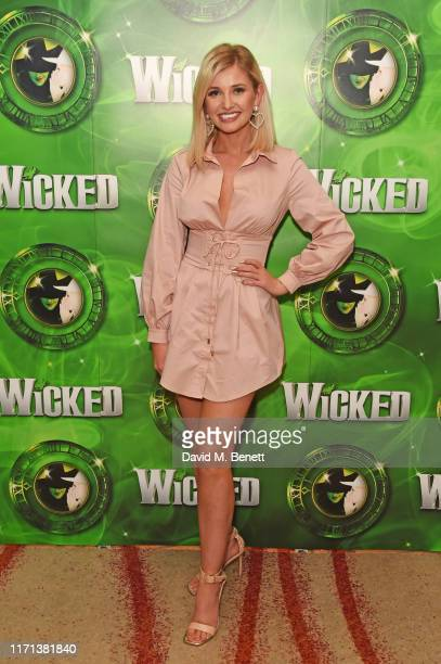 Amy Hart attends an after party to celebrate 13 years of hit musical Wicked at London's Apollo Victoria Theatre on September 26 2019 in London England