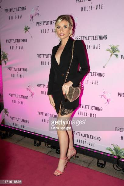 Amy Hart attends the Pretty Little Thing X MollyMae party at Rosso on September 01 2019 in Manchester England
