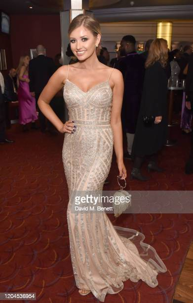Amy Hart attends The WhatsOnStage Awards 2020 at The Prince of Wales Theatre on March 1 2020 in London England
