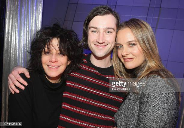 Amy Heckerling Will Connolly and Alicia Silverstone pose backstage at The New Group production of Clueless The Musical based on the iconic 1995 film...
