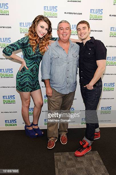 Amy Heidemann Elvis Duran and Nick Noonan visit The Elvis Duran Z100 Morning Show at Z100 Studios on September 10 2012 in New York City
