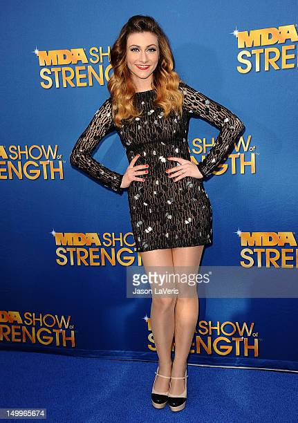 Amy Heidemann of Karmin attends the MDA Labor Day Telethon at CBS Studios on August 7 2012 in Los Angeles California