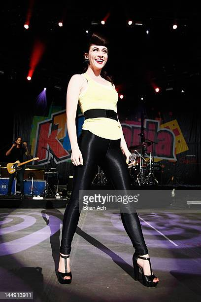 Amy Heidemann of Karmin performs onstage at 1035 KTU's KTUphoria at PNC Bank Arts Center on May 20 2012 in Holmdel City New Jersey