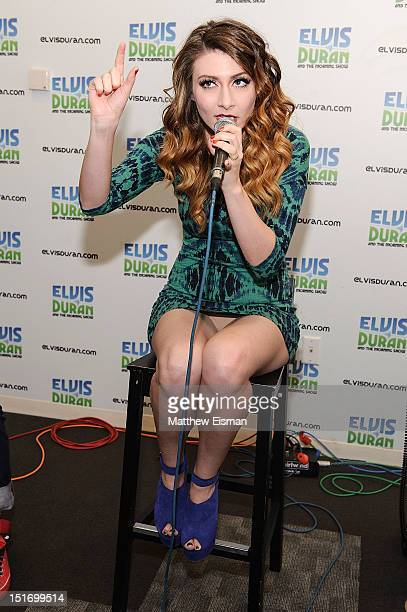 Amy Heidemann of the band Karmin visits The Elvis Duran Z100 Morning Show at Z100 Studios on September 10, 2012 in New York City.