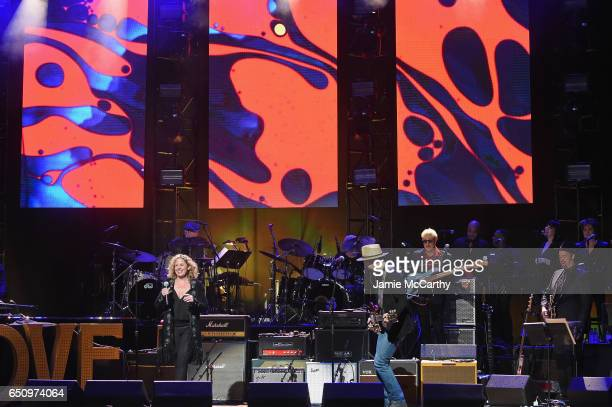 Amy Helm and Jackie Greene perform onstage during 'Love Rocks NYC A Change is Gonna Come Celebrating Songs of Peace Love and Hope' A Benefit Concert...