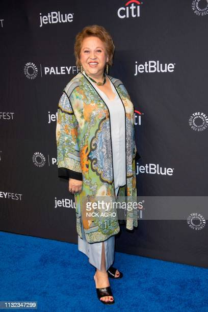 Amy Hill arrives for the Paley Center for Media's 2019 PaleyFest 'Hawaii Five0' 'MacGyver' And 'Magnum PI' March 23 2019 at the Dolby Theater in...