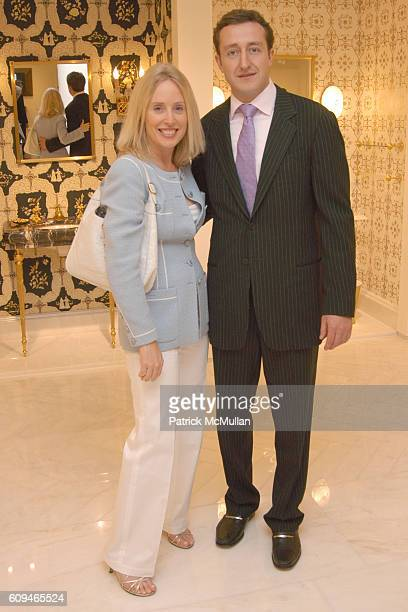 Amy Hoadley and Evan Geoffroy attend SHERLE WAGNER Celebrates Grand Opening of Flagship Showroom at Sherle Wagner Showroom on June 7 2007 in New York...