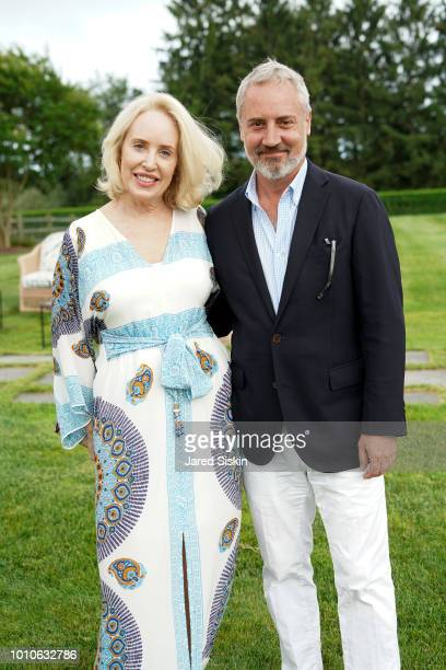 Amy Hoadley and Jack Lynch attend Alzheimer's Association Hosts Rita Hayworth Gala Hamptons Kickoff at a Private Residence on August 3 2018 in Water...
