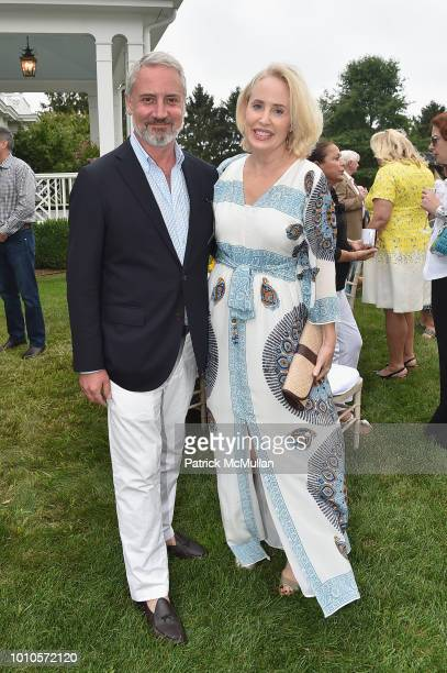 Amy Hoadley and Jack Lynch attend the Rita Hayworth Gala Hamptons Kickoff Event hosted by Alzheimer's Association at Private Residence on August 3...