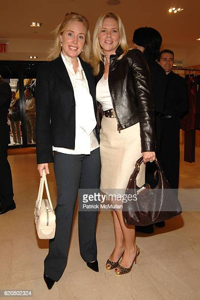 Amy Hoadley and Leah Schwarzman attend AKRIS Fall/Winter 2008 Fashion Presentation Benefiting Lenox Hill Neighborhood House at AKRIS Boutique on...