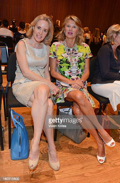 Amy Hoadley and Liliana Cavendish are seen on the front row at the Douglas Hannant fashion show during MercedesBenz Fashion Week Spring 2014 on...