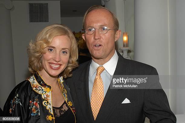 Amy Hoadley and Mark Gilbertson attend Geoffrey Bradfield's Dinner for Douglas Hannant at Geoffrey Bradfield Townhouse on May 11 2006 in New York City