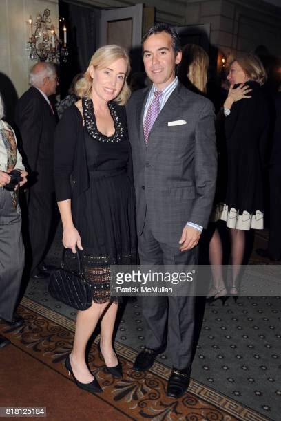 Amy Hoadley and Randall Gianopulous attend 2010 ASPCA Humane Awards Luncheon Sponsored by Hartville Group at The Pierre Hotel on November 11 2010 in...