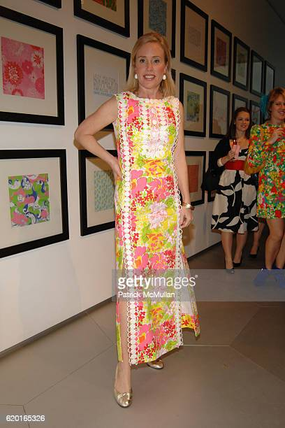 Amy Hoadley attends PARSONS hosts LILLY PULITZER 50th Anniversary Jubilee Kick off and Retrospective Exhibit benefiting CARE at Parsons The New...