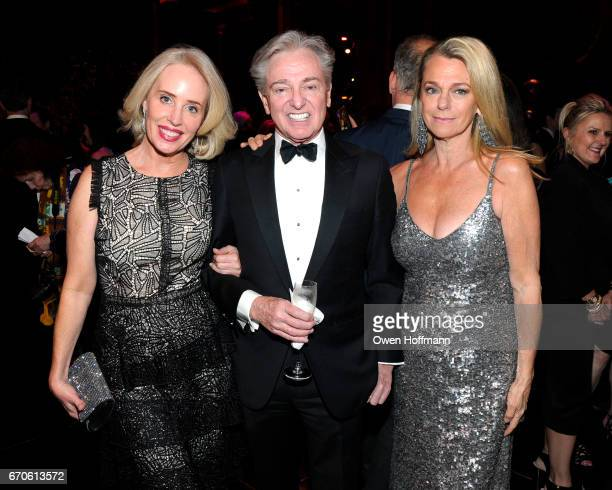 Amy Hoadley Geoffrey Bradfield and Debbie Bancroft attend LNHN Honours Geoffrey Bradfield and John Manice at Cipriani 42nd Street on April 18 2017 in...