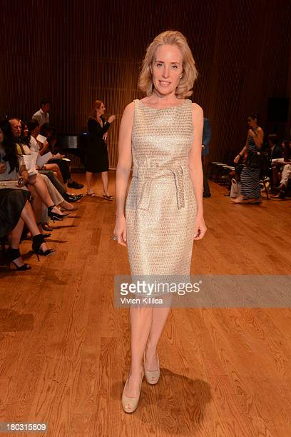 Amy Hoadley is seen on the front row at the Douglas Hannant fashion show during MercedesBenz Fashion Week Spring 2014 on September 11 2013 in New...