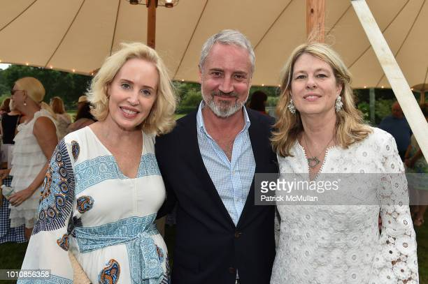 Amy Hoadley Jack Lynch and Ann Colley attend the Rita Hayworth Gala Hamptons Kickoff Event hosted by Alzheimer's Association at Private Residence on...