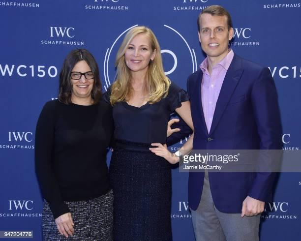 Amy Hobby Jennifer Westfeldt and David Earls attend the IWC Tribeca Film Festival Filmmaker Award Celebration on April 16 2018 in New York City