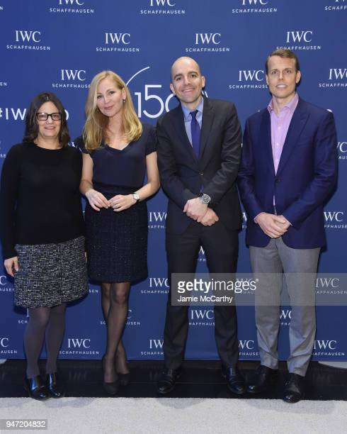 Amy Hobby Jennifer Westfeldt Edouard dArbaumont and David Earls attend the IWC Tribeca Film Festival Filmmaker Award Celebration on April 16 2018 in...