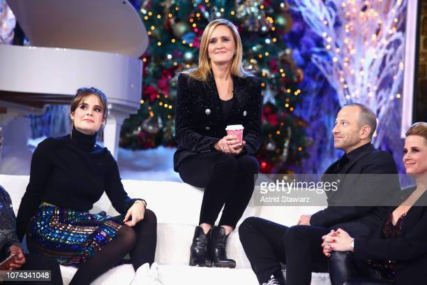 Amy Hoggart Samantha Bee Mike Rubens and Allana Harkin onstage during Full Frontal With Samantha Bee Presents Christmas On ICE at PlayStation Theater...