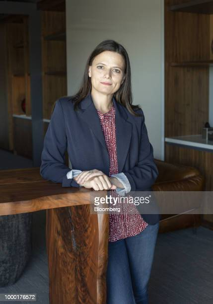 Amy Hood executive vice president and chief financial officer of Microsoft Corp stands for a photograph at the company's main campus in Redmond...
