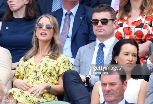 Amy Huberman and Brian O'Driscoll attends day 5 of Wimbledon 2017 on July 7 2017 in London England