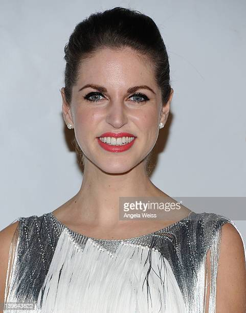 Amy Huberman arrives at the 7th Annual 'Oscar Wilde Honoring The Irish In Film' PreAcademy Awards Event at Bad Robot on February 23 2012 in Santa...