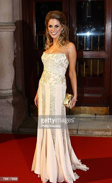 Amy Huberman arrives for the Irish Film Television Awards in the Gaiety Theatre on February 17 2008 in Dublin Ireland