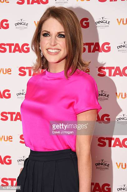 Amy Huberman attends a gala screening of 'Stag' at The Vue Leicester Square on March 13 2014 in London England