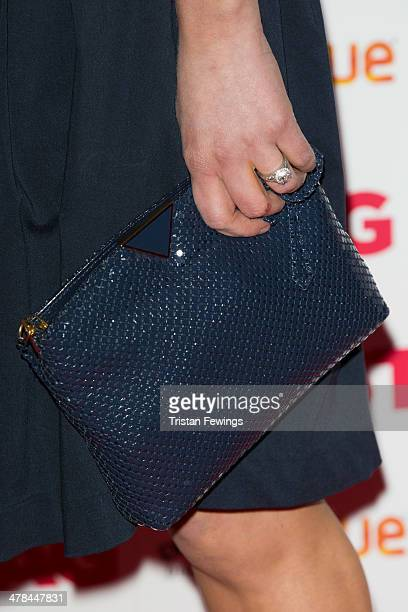Amy Huberman attends a gala screening of 'Stag' at Vue Leicester Square on March 13 2014 in London England
