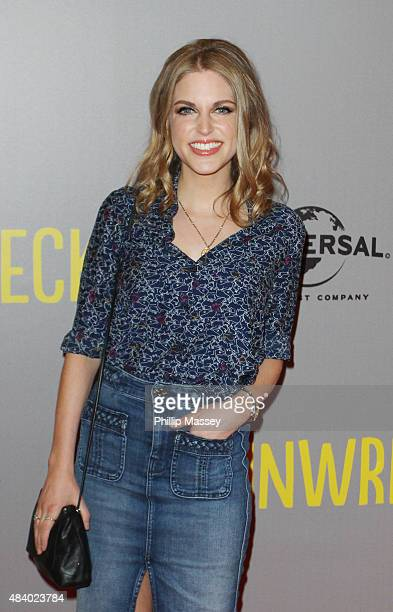 Amy Huberman attends a screening of 'Trainwreck' at Savoy Cinema on August 14 2015 in Dublin Ireland