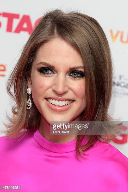 Amy Huberman attends gala screening of 'The Stag' at Vue Leicester Square on March 13 2014 in London England