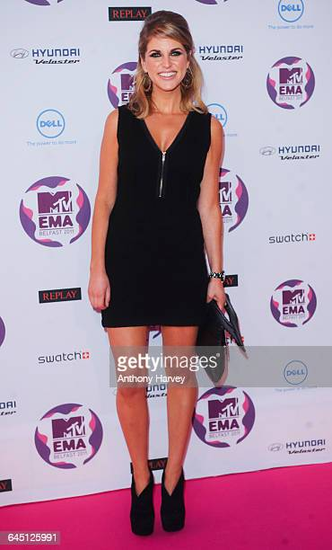 Amy Huberman attends the 2011 MTV European Music Awards on November 06 2011 at Odyssey Arena in Belfast