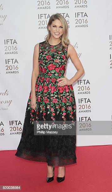 Amy Huberman attends the 2016 IFTA Film Drama Awards at Mansion House on April 9 2016 in Dublin Ireland