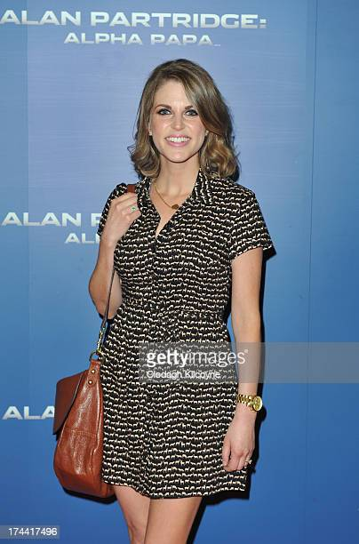 Amy Huberman attends the Dublin premiere of 'Alan Partridge Alpha Papa' at The Point Village on July 25 2013 in Dublin Ireland
