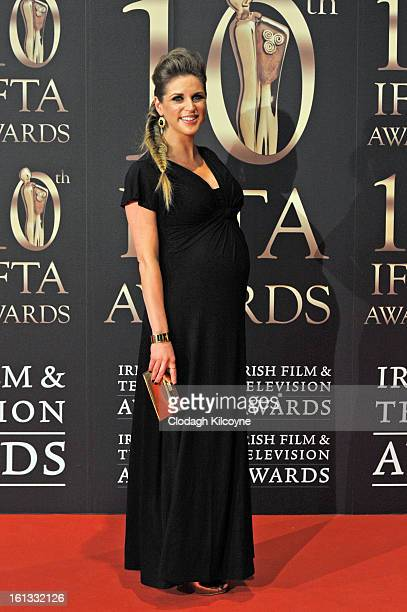Amy Huberman attends the Irish Film and Television Awards at Convention Centre Dublin on February 9 2013 in Dublin Ireland