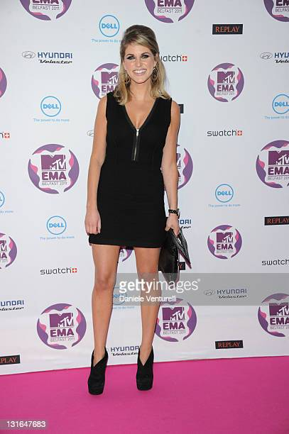 Amy Huberman attends the 'MTV Europe Music Awards 2011' at Odyssey Arena on November 6 2011 in Belfast Northern Ireland