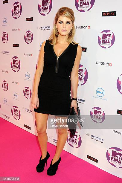 Amy Huberman attends the MTV Europe Music Awards 2011 at the Odyssey Arena on November 6 2011 in Belfast Northern Ireland