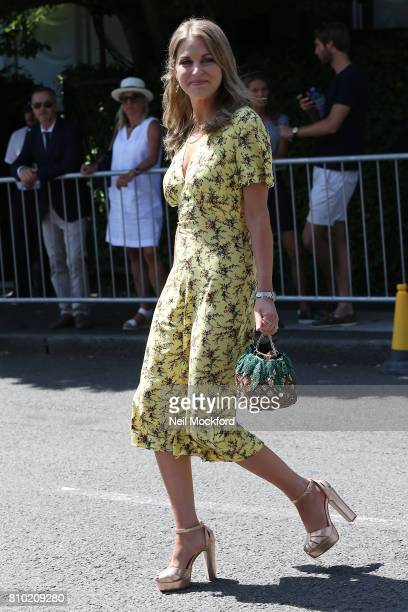 Amy Huberman seen arriving at Day 5 of Wimbledon 2017 on July 7 2017 in London England