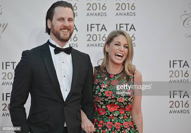 Amy Huberman with her brother Mark attend the 2016 IFTA Film amp Drama Awards at Mansion House in Dublin Dublin Ireland on Saturday 9 April 2016