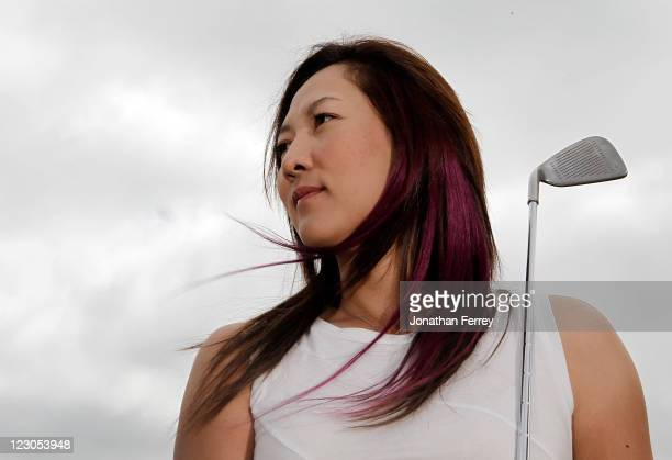 Amy Hung of Taiwan poses for a portrait during the Safeway Classic at Pumpkin Ridge Golf Club on August 18 2011 in North Plains Oregon