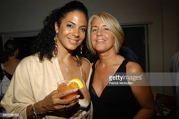 Amy Hunter and Cecilia attend Vanity Fair hosts a performance by the Jane Doe's at House of Campari on September 1 2005 in Venice CA